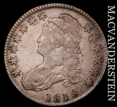 1818 Capped Bust Half Dollar - Semi-key  Extra Fine  Better Date  #H7844