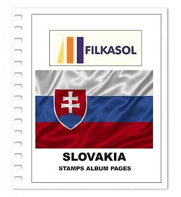 Slovakia Stamps Album Pages 1993-2018 - Pdf File Printable