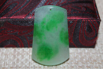 Chinese Hand carved aristocratic wearing Jadeite jade pendant