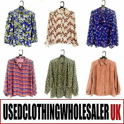 25 VINTAGE 70's 80's BLOUSES TOPS GRADE A WOMEN'S WHOLESALE CLOTHING JOB LOT