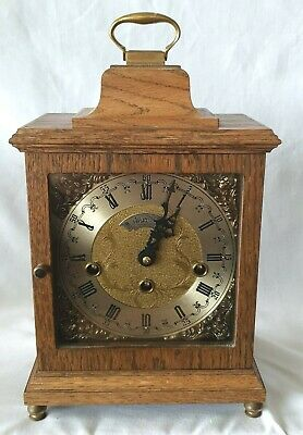 Warmink Westminster Clock 1978 Wubba Dutch 8 Day Key Wind Silent Switch Vintage