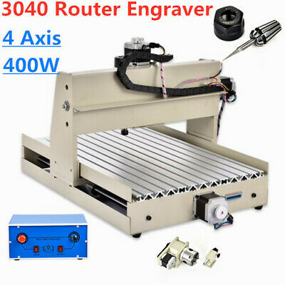 400W 4 Axis CNC 3040 Router Engraver Drilling Drill Milling Machine Wood Cutter