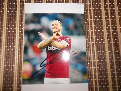 SALE Marko Arnautovic, Ex West ham Footballer,  ORIGINAL HAND SIGNED 6 X 4 PHOTO