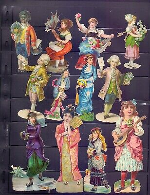 Nice Packet of Victorian Die Cut Scraps,Boys & Girls in Nice Costumes  RB15)