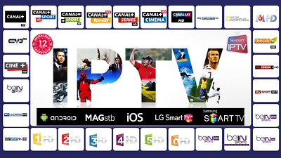 +3500 chaines en direct abonnement (12 mois) IPTV support Android IOS Window
