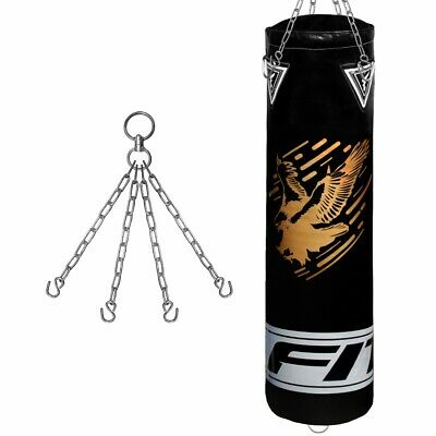 FITEX 5ft Heavy Filled Hanging Punch Bag Gloves Chain MMA Kick Boxing Gym Traing