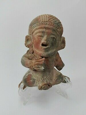 Ancient Greek Figure Childbirth Woman Pottery Antique Statue Female Authentic BC