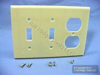 Leviton Ivory Light Switch Plate Receptacle Outlet Cover Wallplate Switchplate