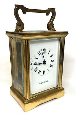 MAPPIN & WEBB Brass Carriage Clock Mantel Clock Timepiece with Key : Working