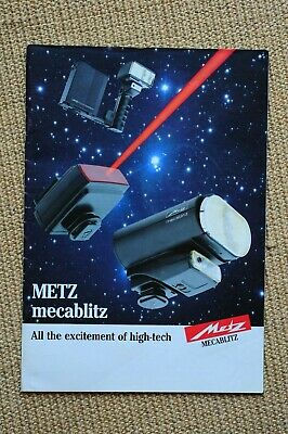1980s Metz brochure. Good sound condition. A4 sized. 31 pages.