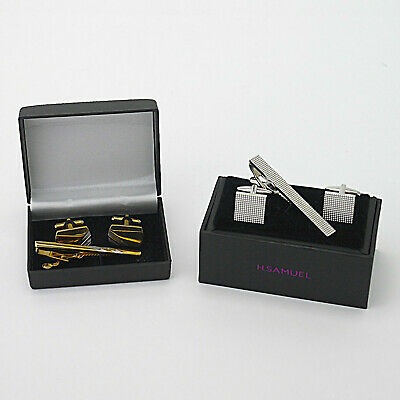 Two Cufflink & Tiepin Sets, H.Samuel & Another - BOXED