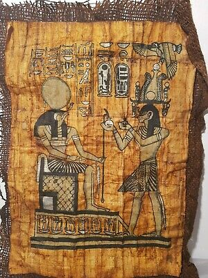 Rare Antique Ancient Egyptian Papyrus God Horus & King Ahmose Protect1560-1525BC