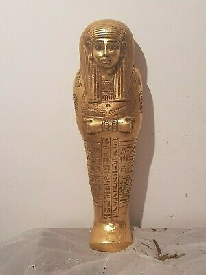 Rare Antique Ancient Egyptian Ushabti Servant God Isis Health Cure1830-1750BC