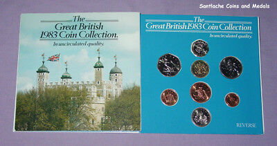 1983 ROYAL MINT BRILLIANT UNCIRCULATED SET OF COINS - The Martini Edition