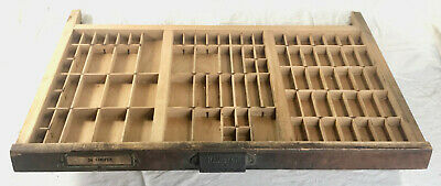 Vintage Wood HAMILTON Printers Type Set Cabinet Drawer Tray..READY TO HANG!