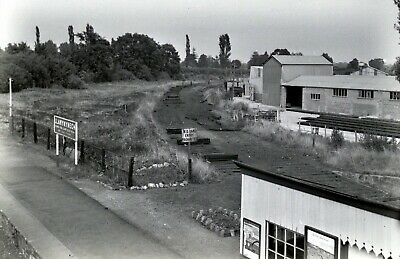 Larger size b&w negative Llanymynech station in 1950s Sold with copyright(1)
