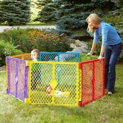 Large Baby Gate Play Yard Pen Crib Playpen Safety Gate Indoor Outdoor Portable