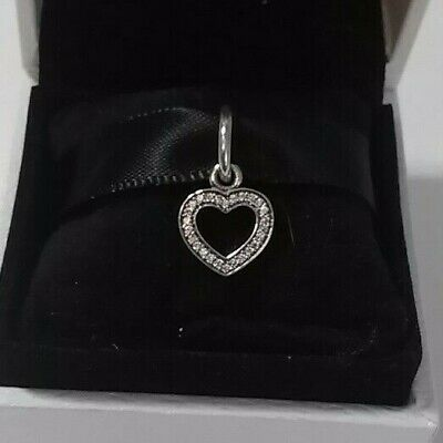 Authentic 925 Pandora Symbol of LOVE Charm Sterling Silver #791304CZ