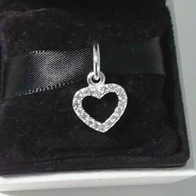Authentic 925 Pandora Be My Valentine Heart Charm Sterling Silver #390325CZ