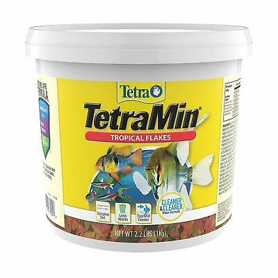 TetraMin Tropical Flakes BUCKET Fish Food. Huge! 1KG / 2.2 LBS NEW SEALED