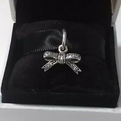 Pandora Sparkling Bow Charm Sterling Silver #390357CZ