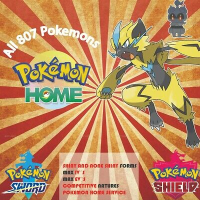 All 807 Shiny Pokemon Home Sword & Shield Living Dex Completion! 🚀Fast DELIVERY