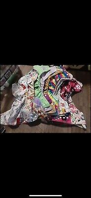 32 assorted brand cloth diapers with two inserts a piece32 assorted brand cloth