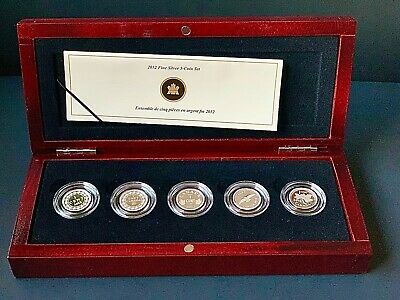 Canada 2012, Fine Silver 5 Coin Set - Farewell to the Penny - Mintage: 5000