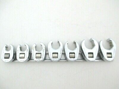 "SNAP ON 7 Piece Flare Nut Crowfoot Wrench Set 3/8"" to 3/4"" SAE Crow Foot 207SFRH"