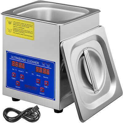 Stainless Steel 1.3l Liter Ultrasonic Cleaner Industry Heated  Heater W/Timer