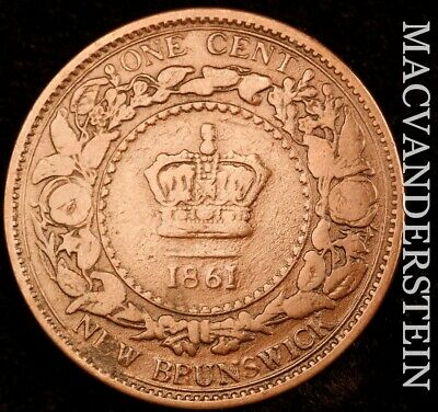Canada (New Brunswick): 1861 One Cent - Scarce  Better Date  #NR4589