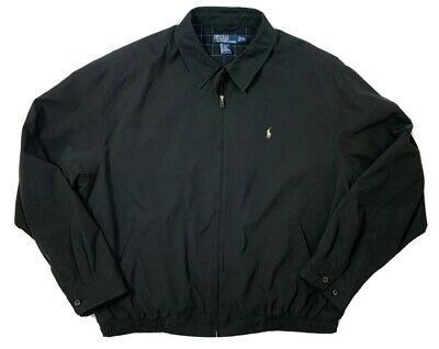 Ralph Lauren Polo Chino Jacket Full Zip Men's XXL Black Windbreaker