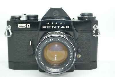 PENTAX ESⅡ Black Body 35mm SLR Film Camera / Super Takumar 55mm 1:1.8 Lens from