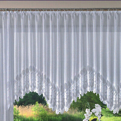 4TYPES EUROPEAN ROMANTIC BEAUTIFUL JACQUARD WHITE NET CURTAIN FOR SMALL WINDOWS