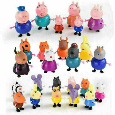 Xmas gift 25 Pcs Peppa Pig Family&Friends Emily Rebecca Suzy Action Figures Toys