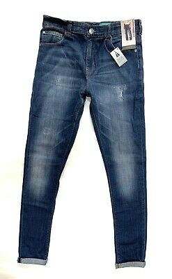 NEW! Boys NEXT Blue SUPER SKINNY Distressed Jeans AGE 14/15 BNWT
