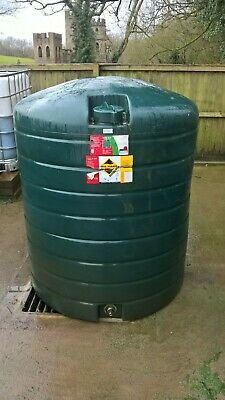 Domestic heating oil vertical storage tank 1400 litres, plastic single skin