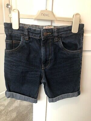 Next Boys Dark Blue Denim Shorts Age 7 Years
