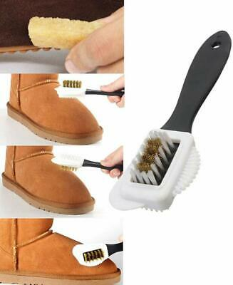 Portable 3-Sides Cleaning Brush For Suede Nubuck Shoes Boot Cleaner Dust Remover