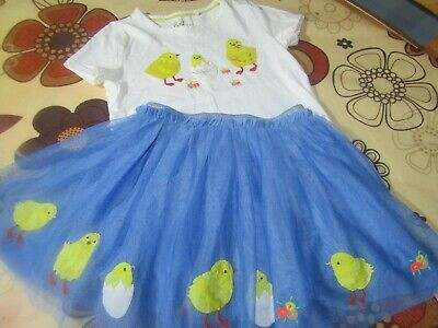 Beautiful, Girls,Mini Boden, Chick,Easter,Spring,Tulle, Skirt& Top Age 4-5,5-6