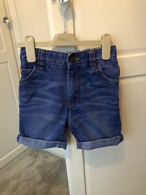 Next Boys Blue Denim Shorts Age 7 Years