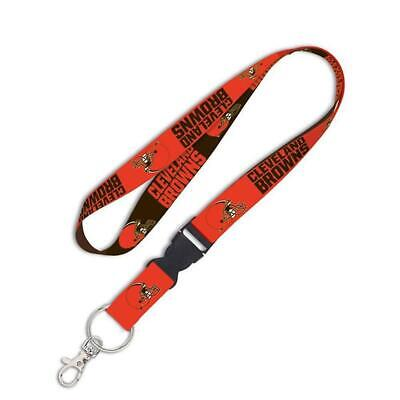 """Wincraft Cleveland Browns AFC 1"""" NFL Lanyard with Detachable Buckle"""