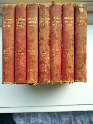 1886 Tennyson's Poetical Works Collectors Set Of 7