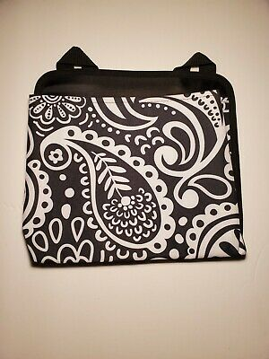 Thirty-One Oh Snap Black White Paisley Hanging Fabric Pocket Organizer NWOT