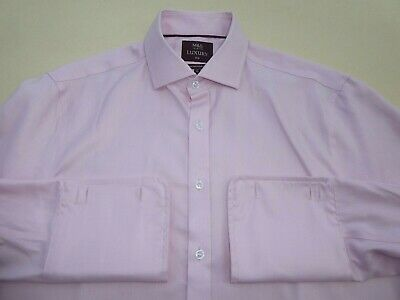 Marks & Spencer Collection Luxury Slim Fit Superior Two Fold Cotton Shirt 17""