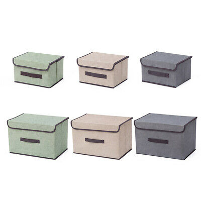 Small/Large Non-woven Folding Collapsible Storage Box Multi-purpose Dust-proof