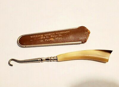 William Marvy Barber Pole Company St Paul MN BOOT BUTTON HOOK Advertising c1900