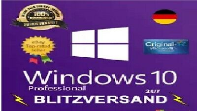 Windows 10 Professional Pro Key+Downloadlink 64 Bit + *Blitzversand*