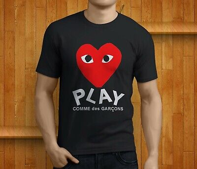 New Popular COMME DES GARCONS CDG PLAY Heart Black T-Shirt