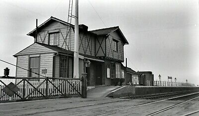 Larger size b&w negative Black Bank station in 1950s. Sold with copyright
